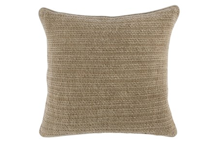 Accent Pillow-Natural Knit Stripes 22X22