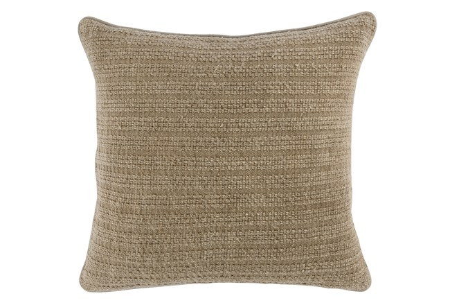 Accent Pillow-Natural Knit Stripes 22X22 - 360
