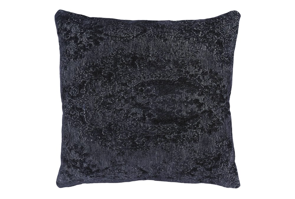 Accent Pillow-Midnight Blue Pattern Chenille 22X22