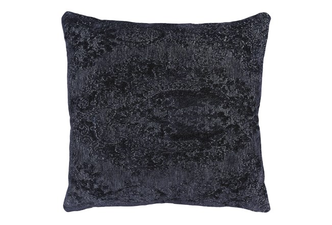 Accent Pillow-Midnight Blue Pattern Chenille 22X22 - 360