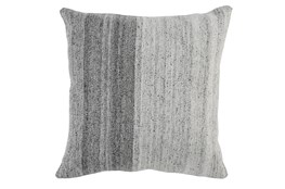 Accent Pillow-Grey Ombre Knit 22X22