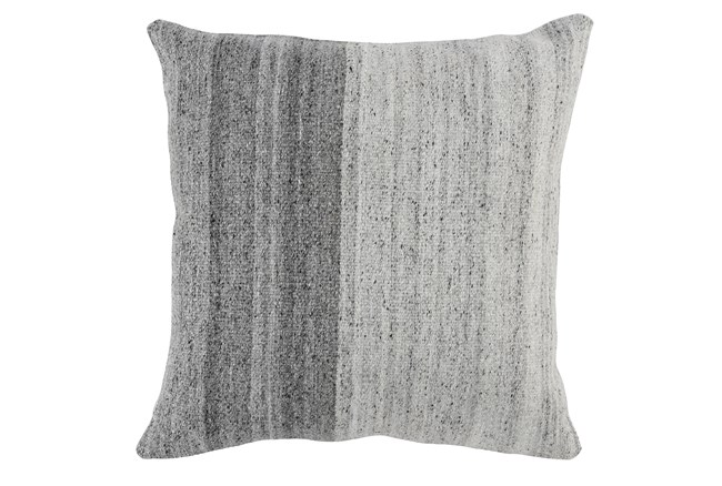 Accent Pillow-Grey Ombre Knit 22X22 - 360
