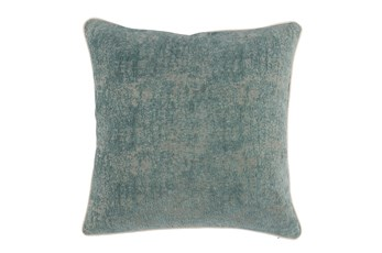 Accent Pillow-Bay Green Pattern Chenille 22X22