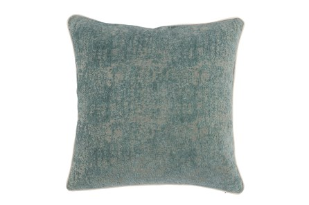 Accent Pillow-Bay Green Pattern Chenille 22X22 - Main