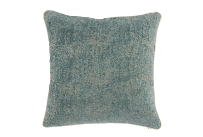 Accent Pillow-Bay Green Pattern Chenille 22X22 - 360