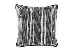 Accent Pillow-Black Nubby Stripes 20X20