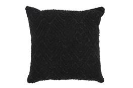 Accent Pillow-Black Diamond Applique  20X20