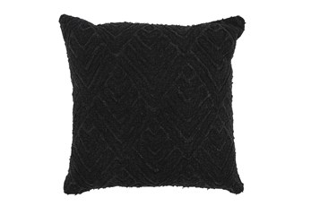 Accent Pillow-Black Diamond Applique  20X20