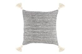 Accent Pillow-Grey Knit Tassels 20X20