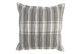 Accent Pillow-Grey Casual Plaid 22X22