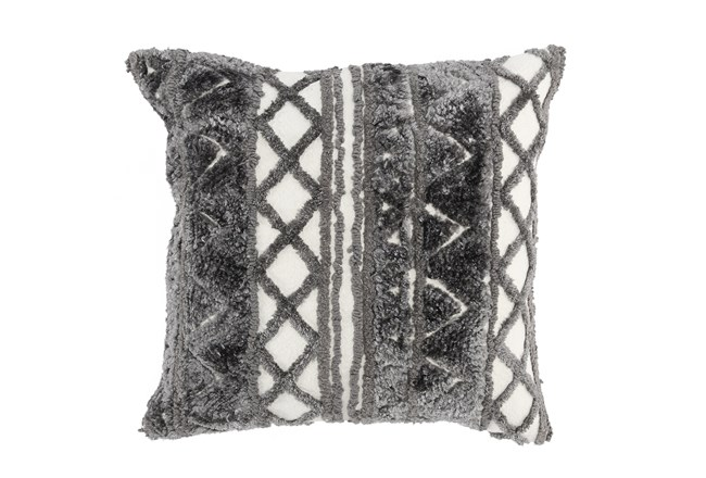 Accent Pillow-Grey Knit Pattern 20X20 - 360