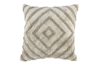 Accent Pillow-Natural Knit Diamond 20X20