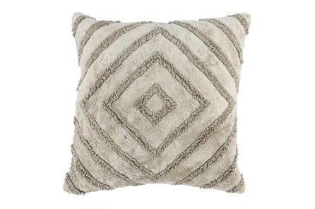 Accent Pillow-Natural Knit Diamond 20X20