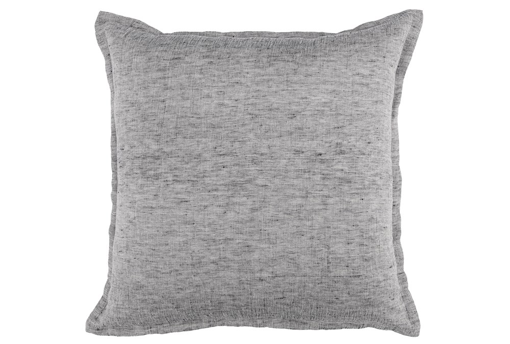 Accent Pillow-Grey Chambray 22X22