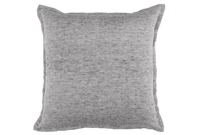 Accent Pillow-Grey Chambray 22X22 - 360