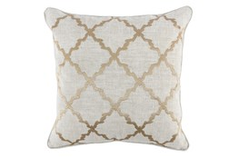 Accent Pillow-Wheat Trellis Embroidery 22X22