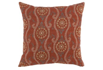 Accent Pillow-Auburn Swirl Embroidery 20X20