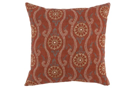 Accent Pillow-Auburn Swirl Embroidery 20X20