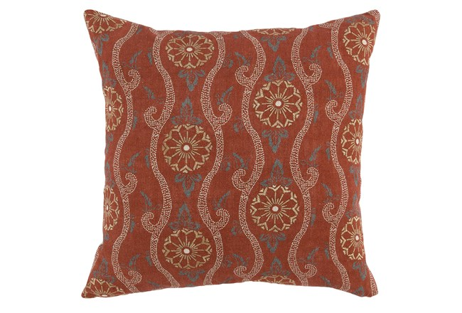 Accent Pillow-Auburn Swirl Embroidery 20X20 - 360
