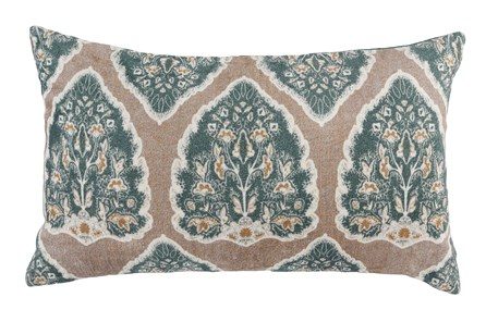 Accent Pillow-Bay Green Acanthus 14X26