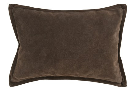 Accent Pillow-Cocoa Suede 14X20 - Main