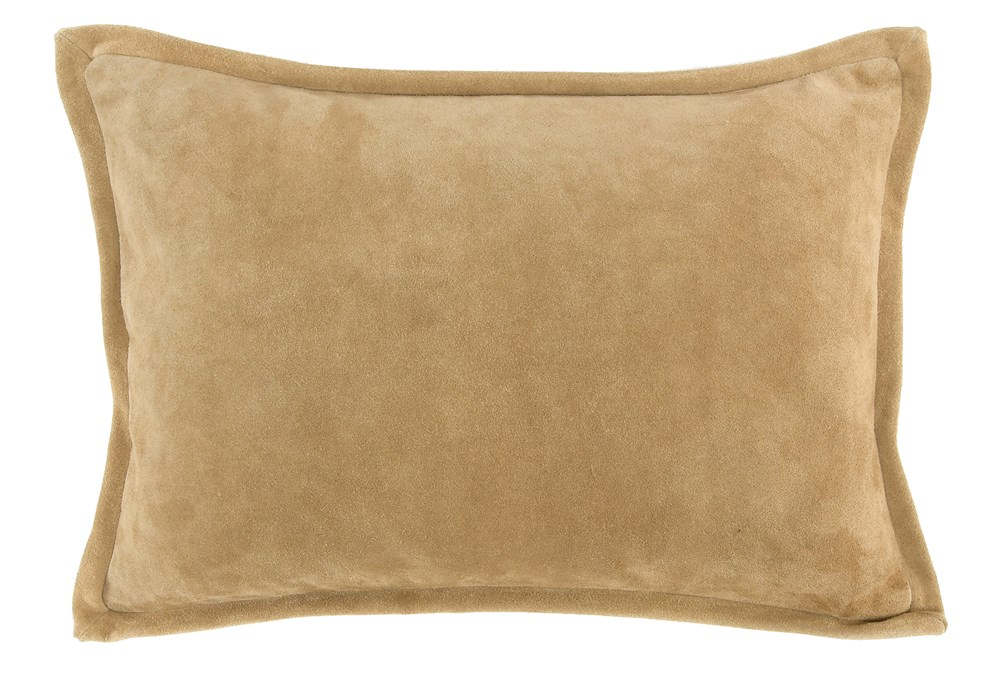 Accent Pillow-Tan Suede 14X20