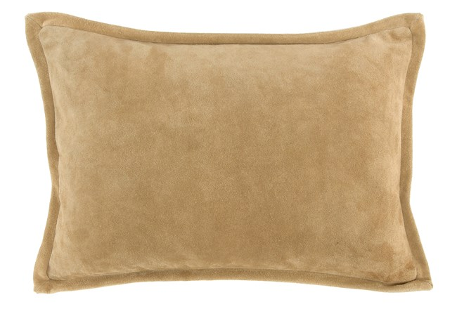 Accent Pillow-Tan Suede 14X20 - 360