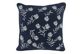 Accent Pillow-Midnight Blue Flowers 18X18