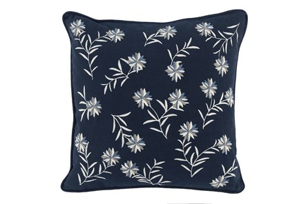 Accent Pillow-Midnight Blue Flowers 18X18