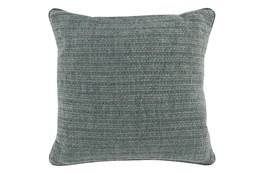 Accent Pillow-Bay Green Knit Stripes 22X22