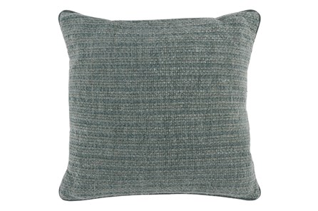 Accent Pillow-Bay Green Knit Stripes 22X22