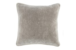 Accent Pillow-Silver Velvet 20X20