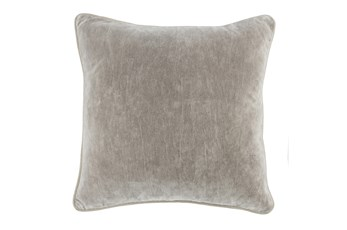Accent Pillow-Silver Velvet 20X20