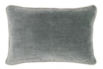 14X20 Bay Green Stonewashed Velvet Lumbar Throw Pillow