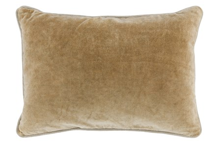 Accent Pillow-Wheat Velvet 14X20 - Main