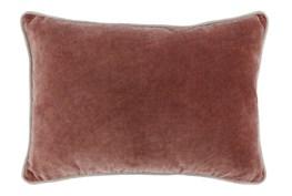 14X20 Red Clay Auburn  Stonewashed Velvet Lumbar Throw Pillow