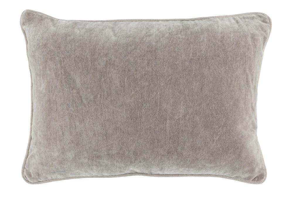 Accent Pillow-Silver Velvet 14X20