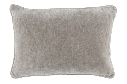Accent Pillow-Silver Velvet 14X20