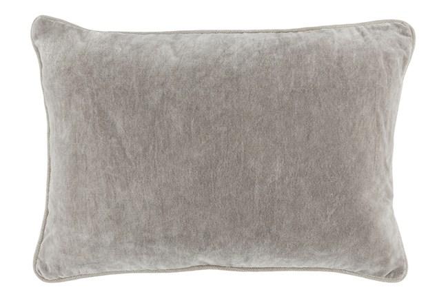 Accent Pillow-Silver Velvet 14X20 - 360