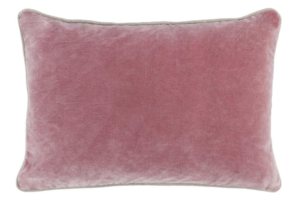 Accent Pillow-Rose Velvet 14X20