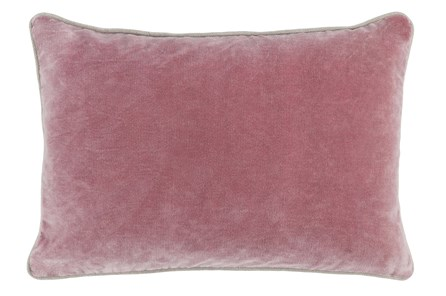 Accent Pillow-Rose Velvet 14X20 - Main