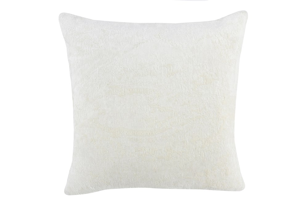 Accent Pillow-Ivory Woven Chenille Pattern 22X22