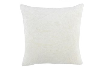 22X22 Ivory Woven Chenille Textured Pattern Throw Pillow