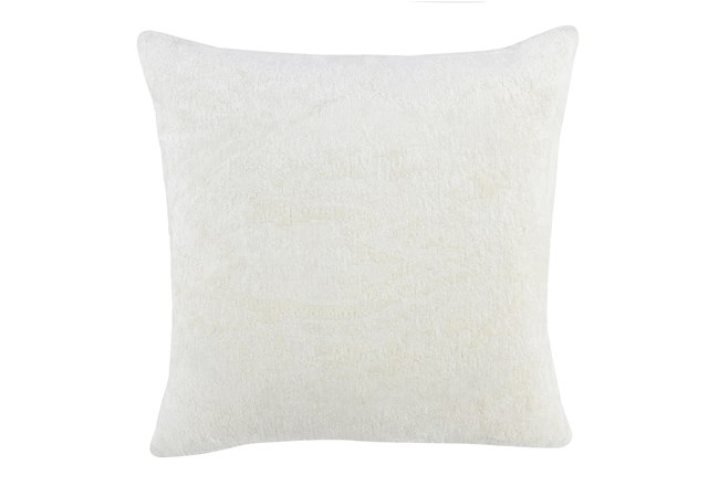 Accent Pillow-Ivory Woven Chenille Pattern 22X22 - 360