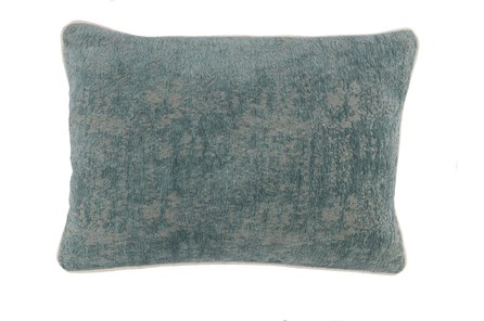 Accent Pillow-Bay Green Pattern Chenille 14X20 - Main