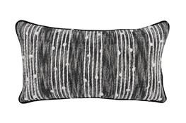 Accent Pillow-Black Nubby Stripes 14X26