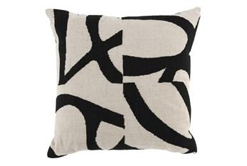 Accent Pillow-Black Modern Art 20X20