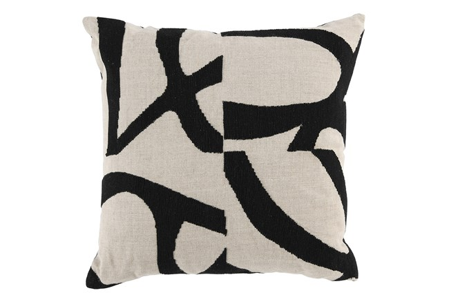 Accent Pillow-Black Modern Art 20X20 - 360