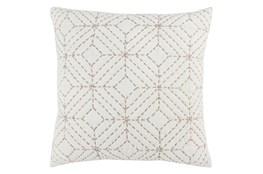 Accent Pillow-Natural Geo Diamonds 22X22