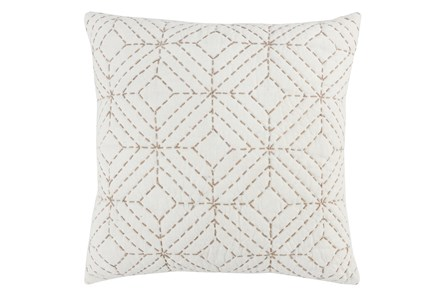 Accent Pillow-Natural Geo Diamonds 22X22